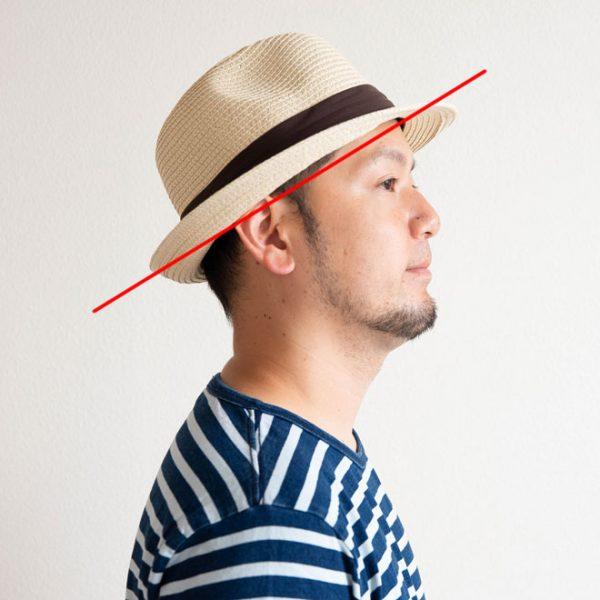 頭のサイズの測り方:キャップ、ハット、ハンチングなどの場合