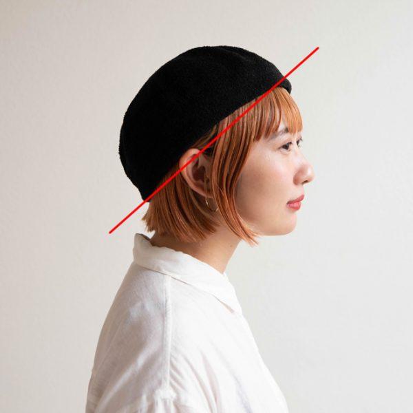 頭のサイズの測り方:ニット帽、ベレー帽等の場合